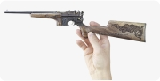 Mauser Pistol-Caliber Carbine 1896 miniature model, decorated in hand